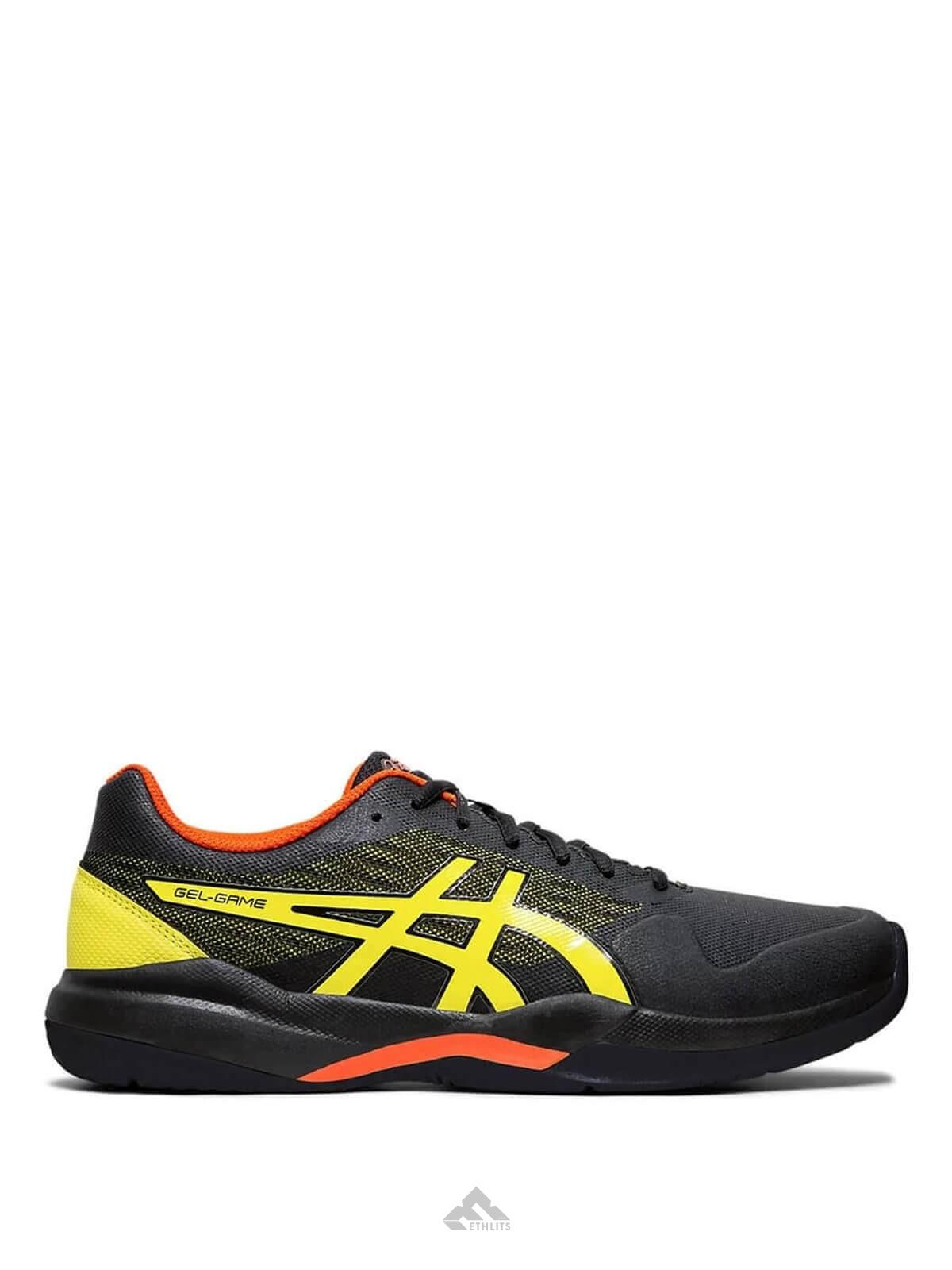 Y equipo prefacio acantilado  Buy Asics Gel-Game 7 Black/Sour Yuzu Tennis Shoes Online in India at Best  Price, Reviews