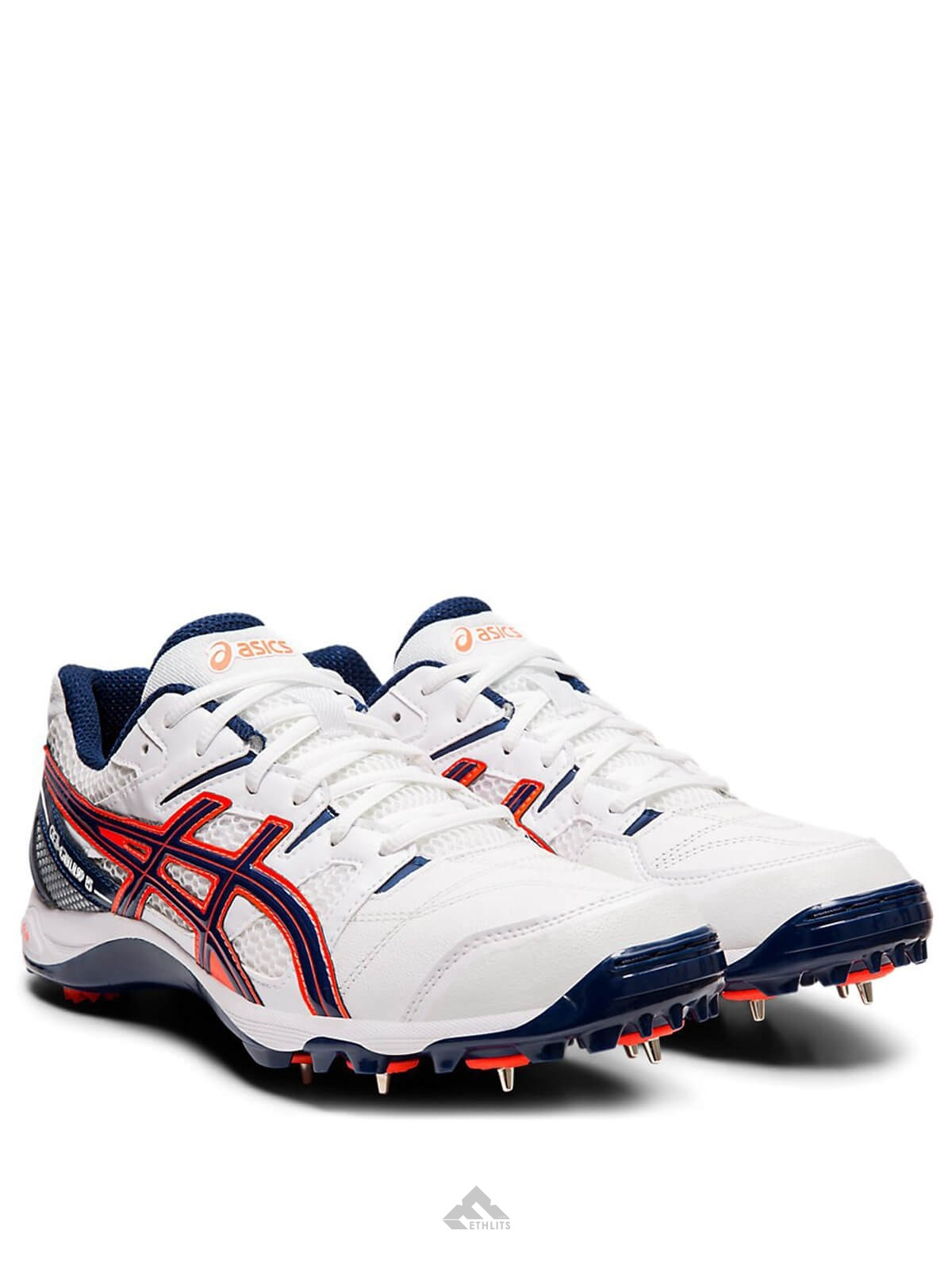 Buy Asics Gel Gully 5 WhiteBlue Expanse Cricket Spike Shoes