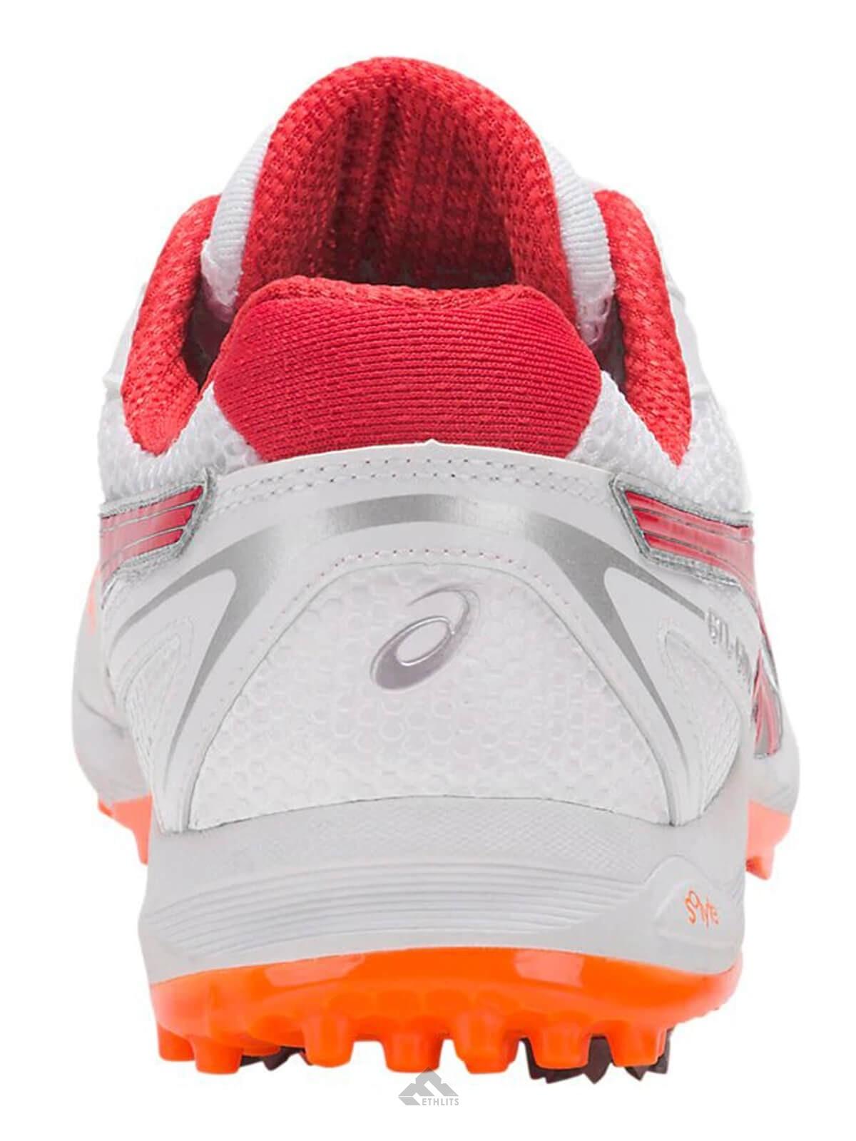 Buy Asics Gel Gully 5 WhiteRed Alert Cricket Spike Shoes