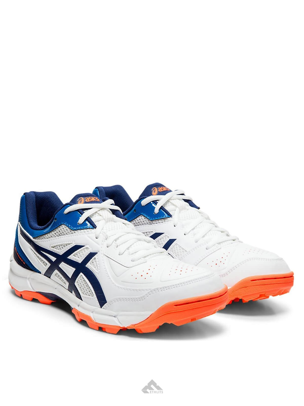 Asics Cricket Shoes Gel Peake 5 For Men  Size  UK 9  White//Black