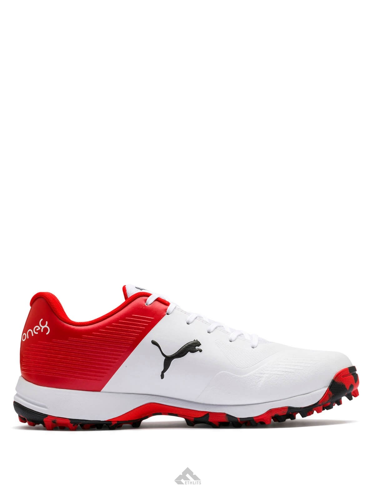 Buy Puma 19 FH RedWhite Rubber Spikes Men's Cricket Shoes